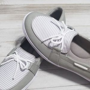 Grasshoppers Shoes - Sz 11 Shoes Grasshoppers Keds Gray Stripe